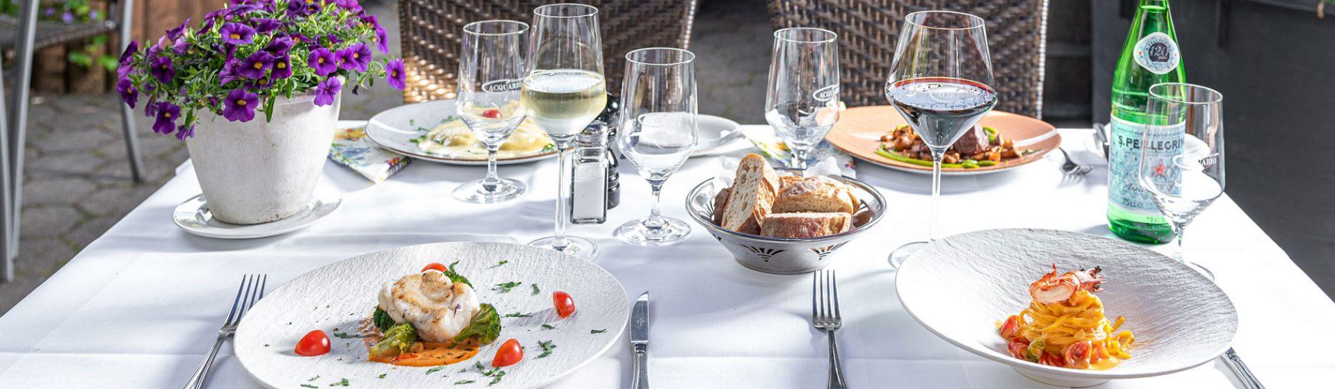 Acquario italienischer Mittagstisch