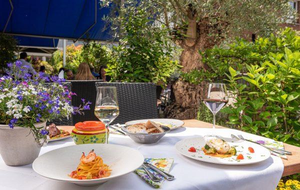 Acquario italienisches Restaurant Aussenbereich